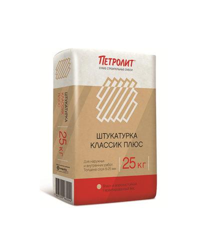 Петролит Штукатурка Классик+, 25 кг.