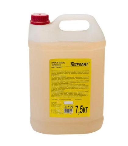 Петролит Жидкое стекло, 15 кг