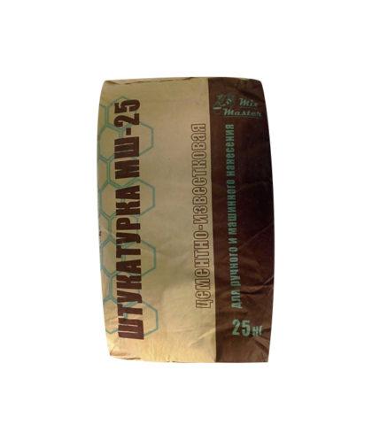 """Штукатурка цементно-известковая МШ-25 """"МиксМастер"""", мешок 25 кг"""