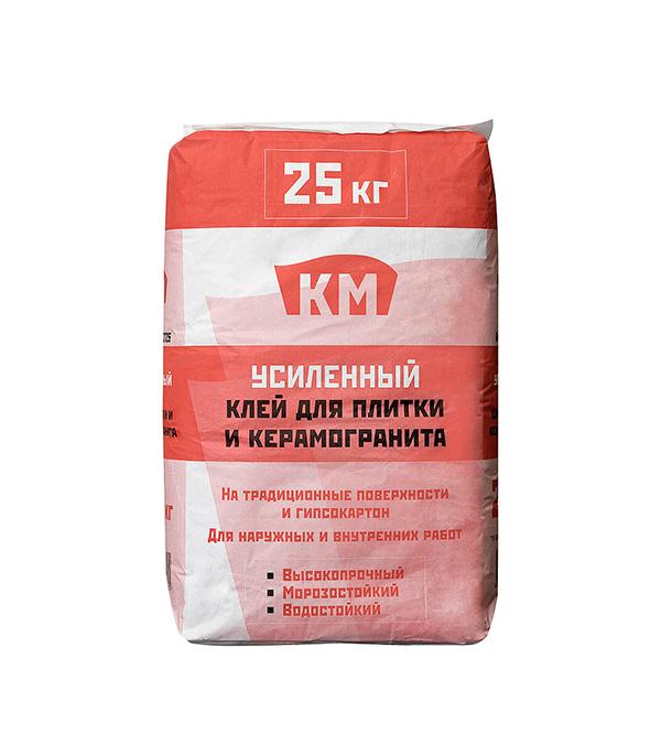 Клей для плитки КМ усиленный в мешке 25 кг