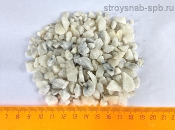 Мраморная крошка светло-серая, фракция 5-10 мм