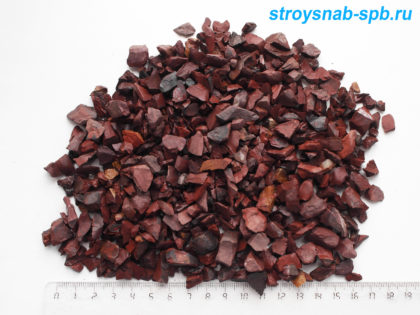Красная (Сургучная) яшма 5-10 мм