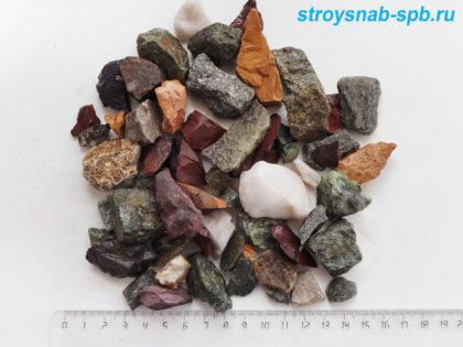 Микс из нескольких видов камня 10-20 мм